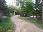 Trail through the camp cabins.