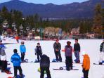 Ski School st Bear Mtn. just down the street