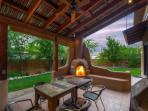 Back Deck with Kiva Fireplace