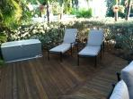 Chaise lounges on Patio