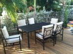 Outside dining area on Patio