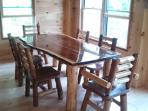 Dining area-black walnut table/chairs