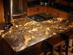 Magma Black kitchen island