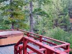 Hot Tub on front deck overlooking Diamopnd Peak Ski Resort