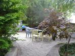 Backyard picnic table, hammock