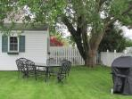 Fenced-in yard (note shed will be removed for 2014)