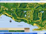 Casa de Campo map.  We are located by hole 17 in The Links golf course