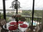 Lanai view of, marina, intercostal, pool and tennis courts