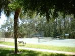 Tennis court near the beach