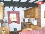 Country style kitchen in The Granary.
