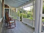 Great farmers porch with 6 rocking chairs