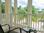 Master bedroom balcony with view of beach & cove
