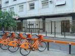 Rental Bike opposite  the building