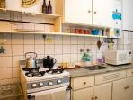 Well-equipped kitchen.