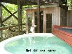 I can see myself in here!  Hot tub & sauna overlooking the lake!  Rx for stress relief-melt away!