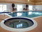indoor pool & hot tub - certain units only