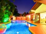 Villa with private swimming pool, private garden.