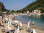 Main blue flag beach, 5 beaches in Paleocastritsa all within walking distance of the villa
