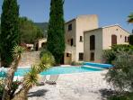 view on the villa in the Provence with private heated pool