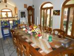 Main Dining room where breakfast is served to our guest at Hacienda Escondida PV