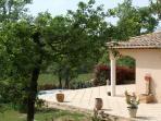 Villa les Caillols set above an AOC vineyard