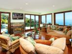Living room- opens to another deck- ocean vistas abound