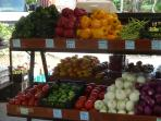 Fresh produce from our bi-weekly local market. Use one of our Mex cookbooks for your own creations.