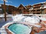 One of 2 relaxing hot tubs with great mountain views!