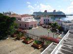 View of Cruise Ships in Harbor from Balcony