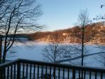 Winter, Lake view from balcony