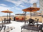 Outdoor patio area to enjoy the sights and scenes of New Orleans while you relax, outdoor grill too!
