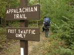 Appalachian Trail 30 min drive from cabin