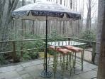 patio/deck overlooking creek