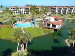 Sundeck view of lagoon, pool and club house