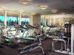 Health club featuring state-of-the-art Technogym machines, free weights & cardiovascular equipments