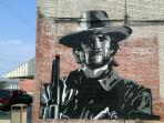 Outlaw Josey Wales 18' X 21' mural on our building