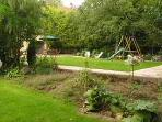 Let the kids go mad in the garden and enjoy the swing.