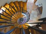 Spiral Turkish staircase  leading to 2 upper floors