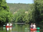 Canoeing on the River Vezere
