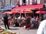 Cafe life in Gavray