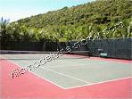 Easy access tennis court on grounds