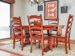 Dining table expands to seat 8 comfortably