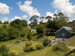 4 luxury award-winning dog-friendly cottages in 25 acres in SE Cornwall, each with private hot tub.