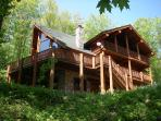Log Home in the woods overlooking all of Northern Michigan at Shanty Creek Resort -  Schuss Mountain