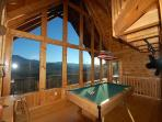 Upstairs pool room- what a View!