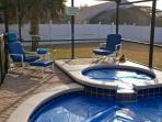 screened lanai / spa / private pool
