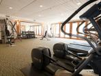Gym with Baldy views overlooking the sun deck