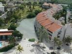View Of Our Condo From The Air. Note The Pool & Restaurant To The Left.