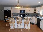 Kitchen with breakfast bar seats 4