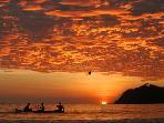 A sunset in Playa Samara.